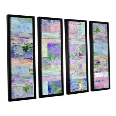 Brushstone Abstract I 4-pc. Floater Framed CanvasWall Art