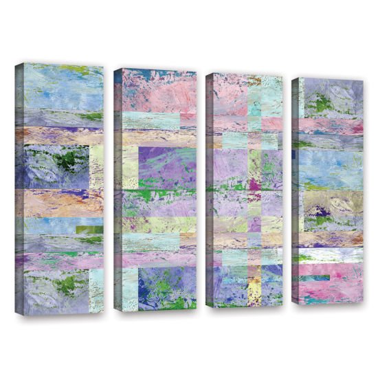 Brushstone Abstract I 4-pc. Gallery Wrapped CanvasWall Art