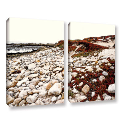 Brushstone A Pebble Beach 2-pc. Gallery Wrapped Canvas Wall Art