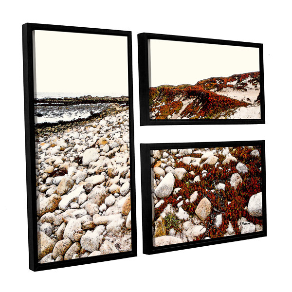 Brushstone A Pebble Beach 3-pc. Flag Floater Framed Canvas Wall Art