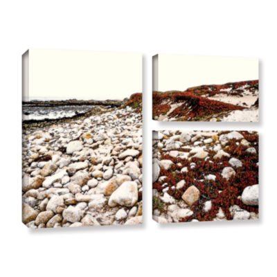 Brushstone A Pebble Beach 3-pc. Flag Gallery Wrapped Canvas Wall Art