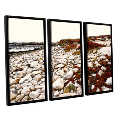 Brushstone A Pebble Beach 3-pc. Floater Framed Canvas Wall Art
