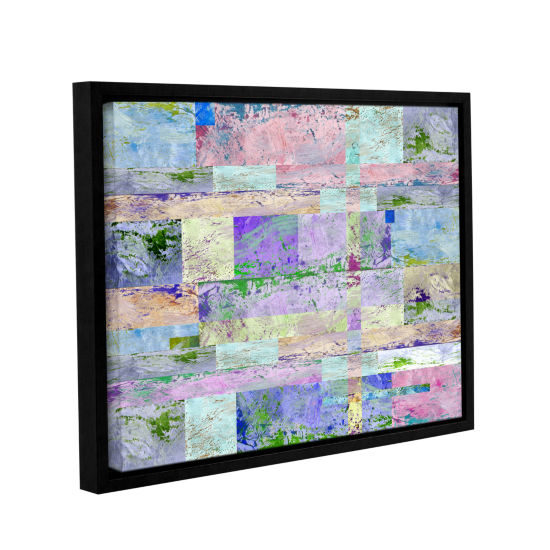 Brushstone Abstract I Gallery Wrapped Floater-Framed Canvas Wall Art