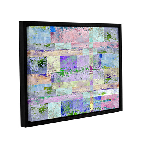 Abstract I Gallery Wrapped Floater-Framed Canvas Wall Art