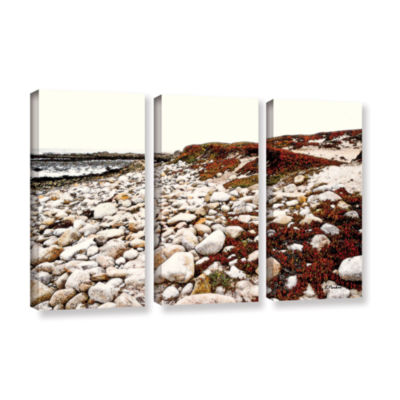 Brushstone A Pebble Beach 3-pc. Gallery Wrapped Canvas Wall Art