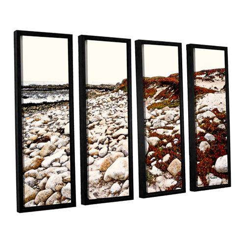 A Pebble Beach 4-pc. Floater Framed Canvas Wall Art