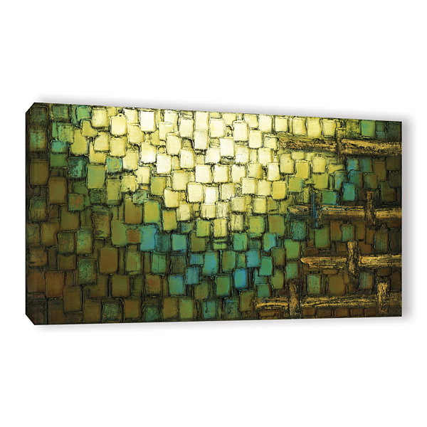 Brushstone Abstract Neutral 1 Gallery Wrapped Canvas Wall Art