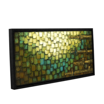 Brushstone Abstract Neutral 1 Gallery Wrapped Floater-Framed Canvas Wall Art