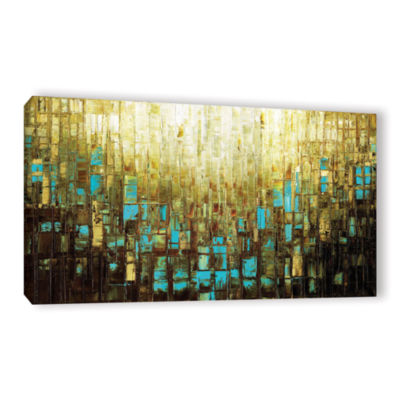 Brushstone Abstract Neutral 2 Gallery Wrapped Canvas Wall Art