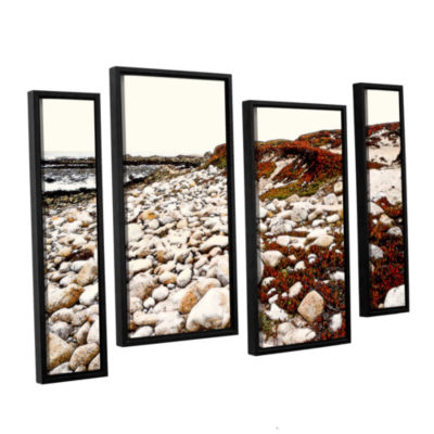 Brushstone A Pebble Beach 4-pc. Floater Framed Staggered Canvas Wall Art