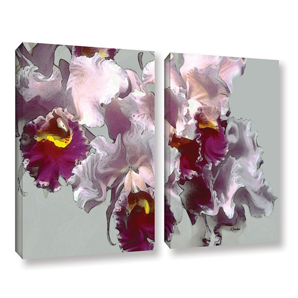 Brushstone Abstract Orchid 2-pc. Gallery Wrapped Canvas Wall Art