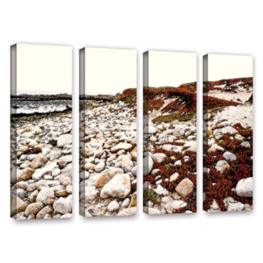 Brushstone A Pebble Beach 4-pc. Gallery Wrapped Canvas Wall Art