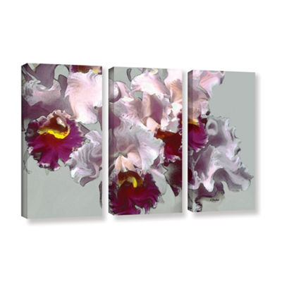 Brushstone Abstract Orchid 3-pc. Gallery Wrapped Canvas Wall Art