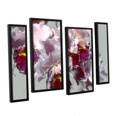 Brushstone Abstract Orchid 4-pc. Floater Framed Staggered Canvas Wall Art