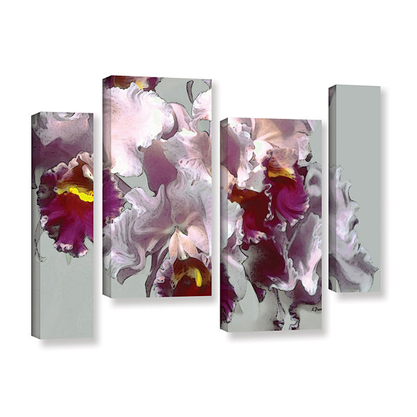 Brushstone Abstract Orchid 4-pc. Gallery Wrapped Staggered Canvas Wall Art