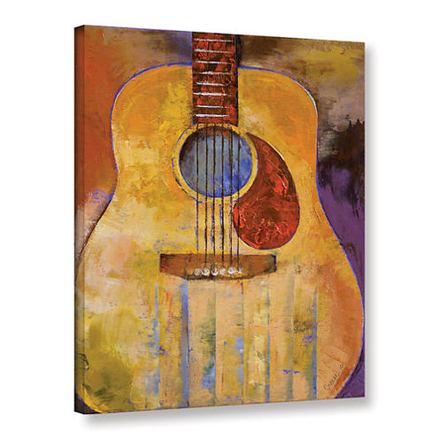 Acoustic Guitar Gallery Wrapped Canvas Wall Art