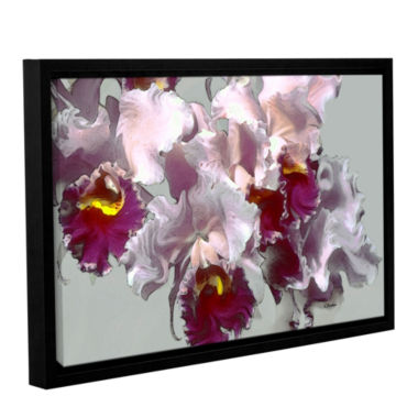 Brushstone Abstract Orchid Gallery Wrapped Floater-Framed Canvas Wall Art