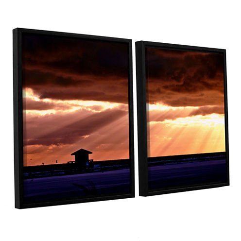 9992aa 2-pc. Floater Framed Canvas Wall Art