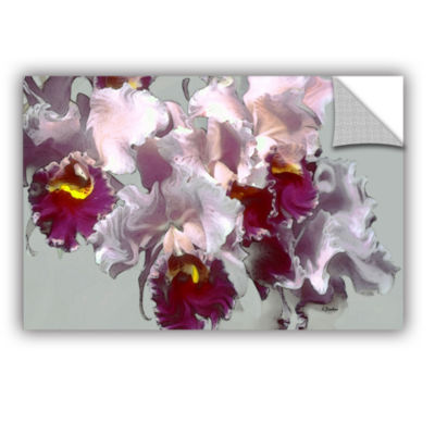 Brushstone Abstract Orchid Removable Wall Decal