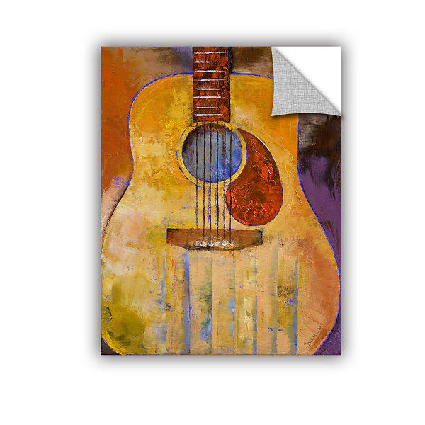 Brushstone Acoustic Guitar Removable Wall Decal