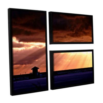 Brushstone 9992AA 3-pc. Flag Floater Framed CanvasWall Art