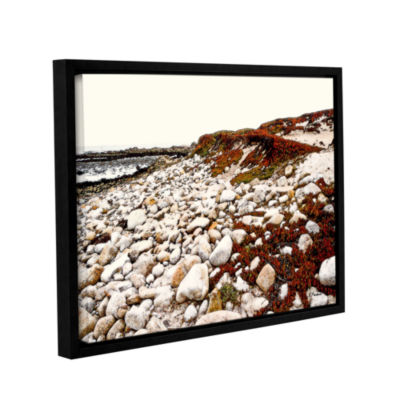 Brushstone A Pebble Beach Gallery Wrapped Floater-Framed Canvas Wall Art