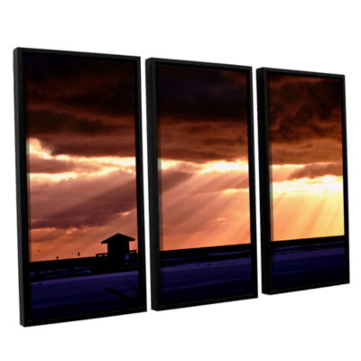 Brushstone 9992aa 3-pc. Floater Framed Canvas WallArt