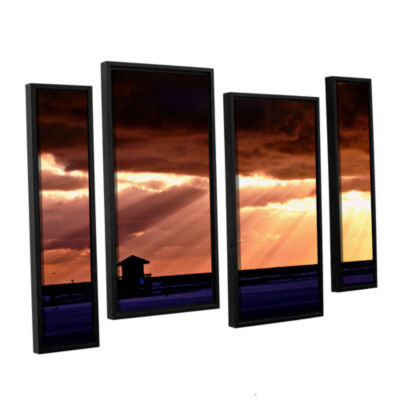 Brushstone 9992aa 4-pc. Floater Framed Staggered Canvas Wall Art