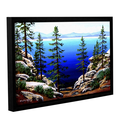 Across Lake Tahoe Gallery Wrapped Floater-Framed Canvas Wall Art