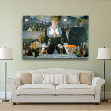 Brushstone A Bar at the Folies-Bergere Gallery Wrapped Canvas Wall Art