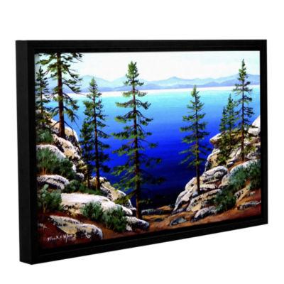 Brushstone Across Lake Tahoe Gallery Wrapped Floater-Framed Canvas Wall Art