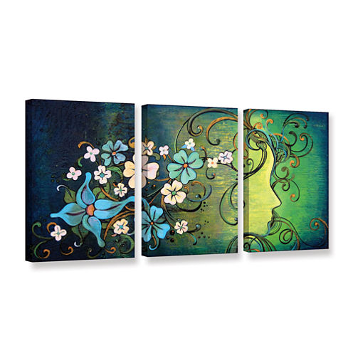 A Beautiful Mind 3-pc. Gallery Wrapped Canvas WallArt