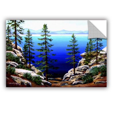 Brushstone Across Lake Tahoe Removable Wall Decal