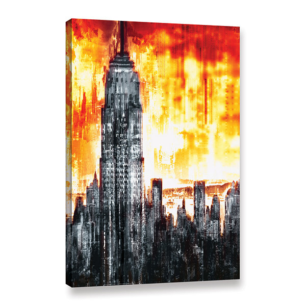 Brushstone Across The City Light Gallery Wrapped Canvas Wall Art ...