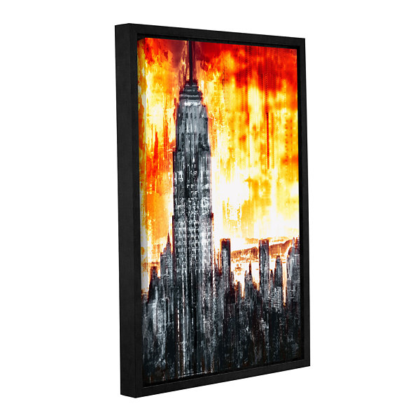Brushstone Across The City Light Gallery Wrapped Floater-Framed Canvas Wall Art