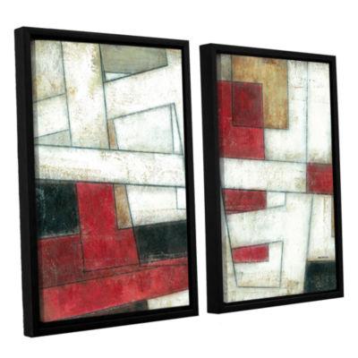 Brushstone Alignment 2-pc. Floater Framed Canvas Wall Art