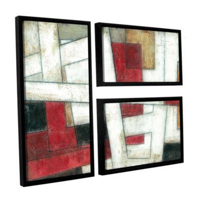 Brushstone Alignment 3-pc. Flag Floater Framed Canvas Wall Art