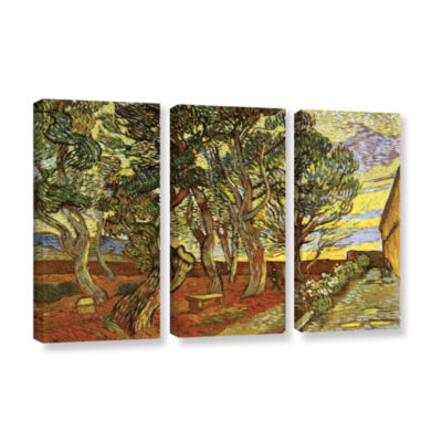 Brushstone A Corner of Saint-Paul Hospital 3-pc. Gallery Wrapped Canvas Wall Art