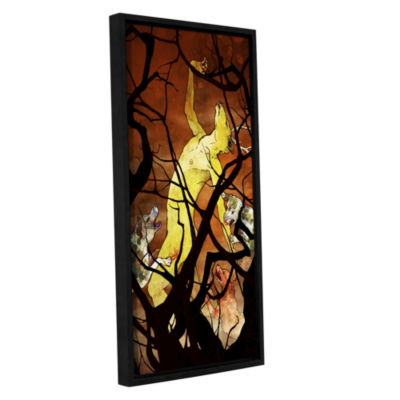 Brushstone Actaeon Gallery Wrapped Floater-FramedCanvas Wall Art