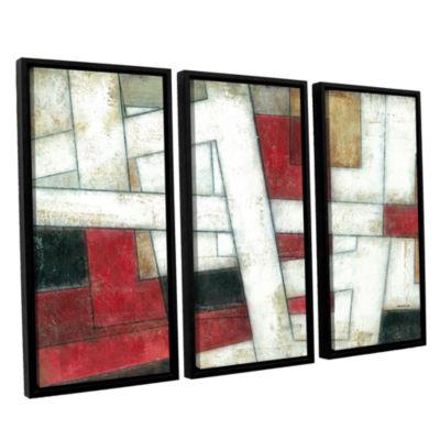 Brushstone Alignment 3-pc. Floater Framed Canvas Wall Art