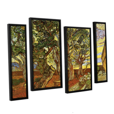 Brushstone A Corner of Saint-Paul Hospital 4-pc. Floater Framed Staggered Canvas Wall Art