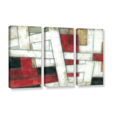 Brushstone Alignment 3-pc. Gallery Wrapped CanvasWall Art