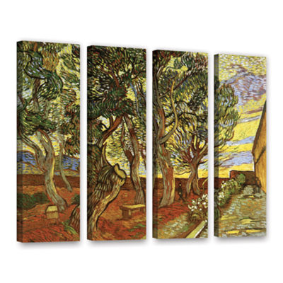 Brushstone A Corner of Saint-Paul Hospital 4-pc. Gallery Wrapped Canvas Wall Art