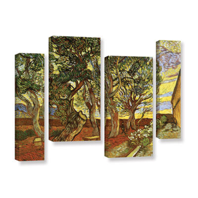 Brushstone A Corner of Saint-Paul Hospital 4-pc. Gallery Wrapped Staggered Canvas Wall Art