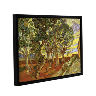 A Corner of Saint-Paul Hospital Gallery Wrapped Floater-Framed Canvas Wall Art