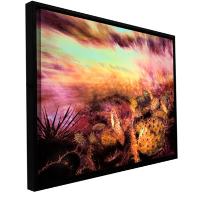 Brushstone A southwest wind Gallery Wrapped Floater-Framed Canvas Wall Art