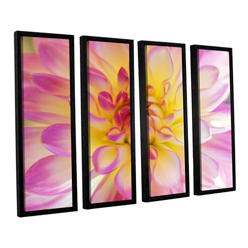 All Dahled Up 4-pc. Floater Framed Canvas Wall Art