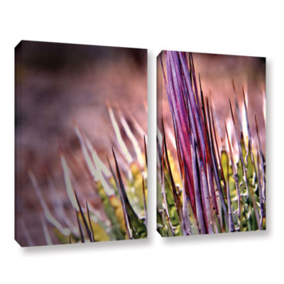 Brushstone Agave 2-pc. Gallery Wrapped Canvas Wall Art