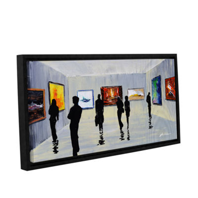 Brushstone Admiration Gallery Wrapped Floater-Framed Canvas Wall Art