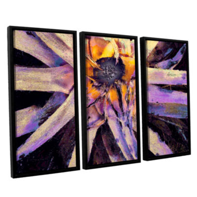 Brushstone Agave Glow 3-pc. Floater Framed CanvasWall Art